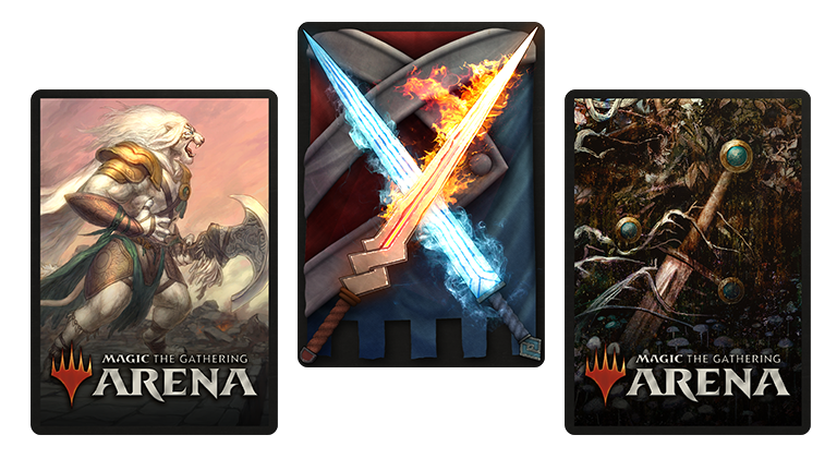 exclusive card sleeves for MTG Arena