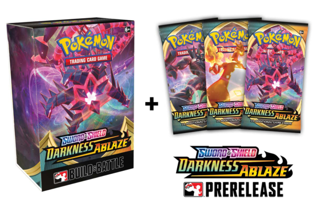 pokemon sword and shield darkness ablaze prerelease products