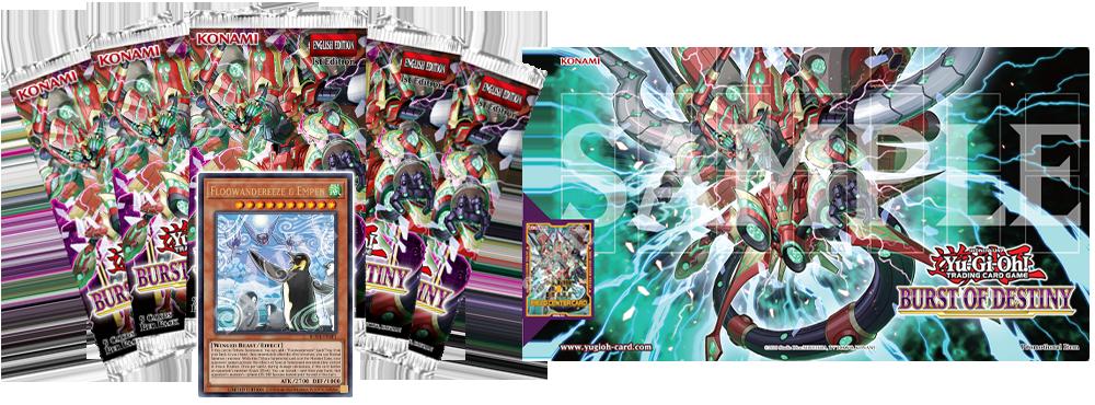 Yugioh Burst of Destiny Ultra Rare Promo, Playmat, and Field Center Card